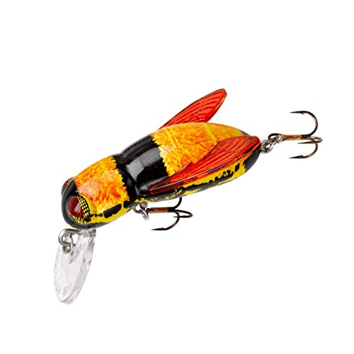 Rebel Lures Bumble Bug Topwater / Crankbait Fishing Lure, 1 1/2 Inch, 7/64 Ounce, Bumble Bee