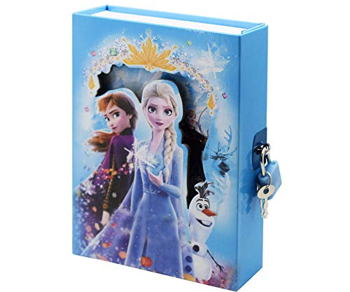 Asera Princess Secret Lock Diary for Girls Gifts Options (Small Size 16.5*13*3 cm)