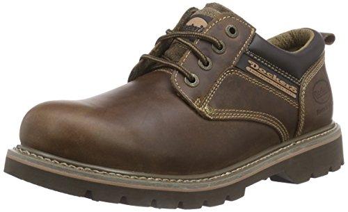 Dockers 23DA005 - Zapatos de cordones de cuero para hombre, color marrón (desert 460), talla 44