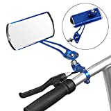 Jeemitery Bicycle Mirror,A Pair of 360Rotation Back Rearview Mirror Handlebar Wide Angle Bike Mirror-Blue