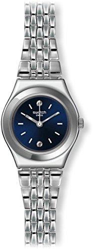 Swatch Unisex Erwachsene Digital Quarz Uhr mit Edelstahl Armband YSS288G