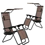 BestMassage Patio Chairs Lounge Chair Zero Gravity Chair 2 Pack...