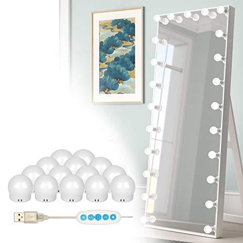 14 Bulbs LED Vanity Mirror Lights, Hollywood Style Make up Lights...