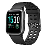 YAMAY Smart Watch for Android and iOS Phone IP68 Waterproof, Fitness Tracker Watch with Heart Rate Monitor Step Sleep Tracker, Smartwatch Compatible with...
