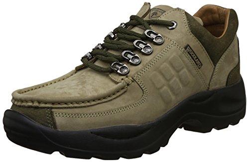 Woodland Men's Khaki Leather Sneaker-7 UK/India (41 EU) (G 4092WSA)