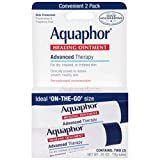 Aquaphor Healing Ointment To-go Size - 2 Pack, Moisturizing Ointment for Dry Chapped Skin, Dry Hands, Use After Hand Washing - .35 oz.