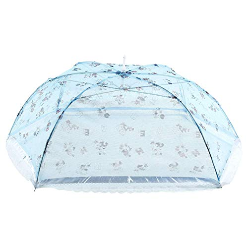 Touch Stone Umbrella Style Full Cover up for 0 to 3 Year Baby Blue Mosquito Net for Baby_New Born_Infants(Multicoloured)