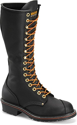 Carolina Mens 16' Domestic Linesman Boot (6 M, Black)