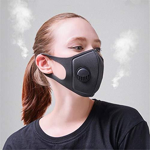 Holspe PM2.5 - Maschera di Protezione Contro Le polveri Sottili, Lavabile, con valvola di Sicurezza 3.0 per Ciclismo MTB, per pollini e polveri Sottili, Unisex