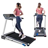 Tricodale Folding Treadmill with Incline, 10 MPH Treadmill 4.0HP Innovative Bluetooth Treadmill Walking Running Machine with App Connection, Pulse Sensor, Dual Speakers, Foldable Display
