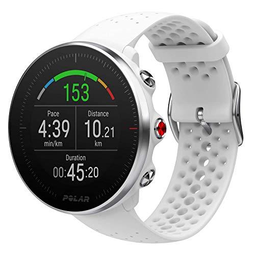 Polar Vantage M -Reloj con GPS y Frecuencia Cardíaca - Multideporte y programas de running - Resistente al agua, ligero - Blanco Talla S