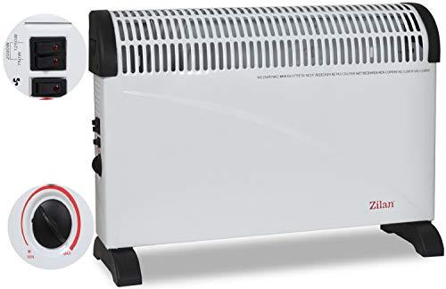 Turbo Konvektor | 2000 Watt | 3 Heizstufen | Überhitzungsschutz | Heizgerät | Elektro Heizung | Heizstrahler | Elektroheizung | Thermostat | Mini Heizung