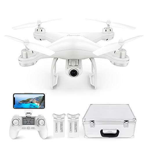 Potensic Drone con Telecamera Drone GPS Professionale T25 FPV HD 1080P 120  Grandangolo Regolabile Dual GPS Seguimi RTH con Due Batterie, Telecomando, Valigetta da Trasporto