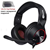 HUOGUOYIN Computer Headset 7.1 Surround Stereo Sound Headphones with Microphone LED Light for Computer Laptop Bass Casque Gaming Headset (Color : Red Air Bag Box)