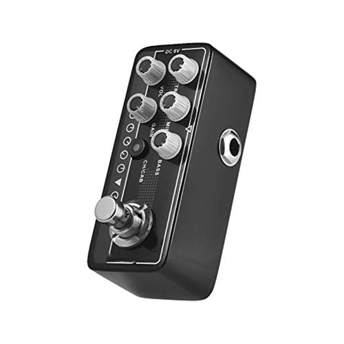 Zhengowen Guitar Effect Pedal Guitar Effect Pedal Transfers Guitar/Bass Signal Directly To Audio System Aluminum Alloy Body Guitar Multi-effects Processor (Color : Black, Size : 3.8 x 9.5 x 3.2cm)