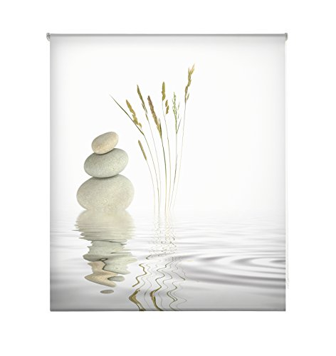 Blindecor W-Z-14991 - Tenda a rullo trasparente, stampa digitale, 110 x 180 cm, multicolore, bambù, 6x110x180 cm