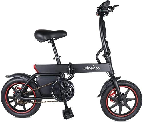Vélo Électrique Pliable, Jusqu'à 25km/h, Vitesse Réglable Urban Bike, Autonomie 20km, Batterie 36V/6.0Ah 350W, Adulte E-Bike, Noir