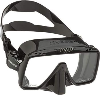 Cressi Frameless Adult Scuba Diving Mask: Wide Visibility, Silicone Skirt: SF1 : Quality Since 1946