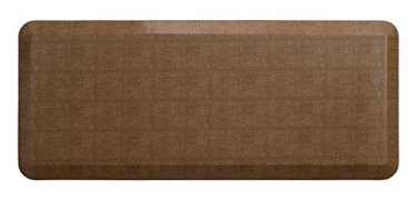 """NewLife by GelPro Anti-Fatigue Designer Comfort Kitchen Floor Mat, 20x48"""", Pebble Caramel Stain Resistant Surface with 3/4"""" Thick Ergo-foam Core for Health and Wellness"""