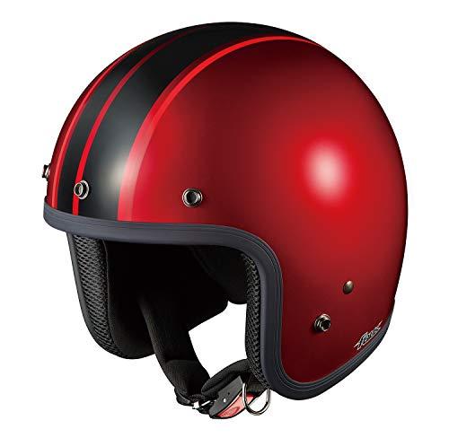 オージーケーカブト(OGK KABUTO)バイクヘルメット ジェット FOLK G1 シャイニーレッド/ブラック (サイズ:57-59cm)
