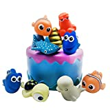 Finding Nemo Cake Topper, Cake Toppers Picks for Kids Birthday Party, Baby Shower Cake Decorations (Finding Nemo 8 pcs)