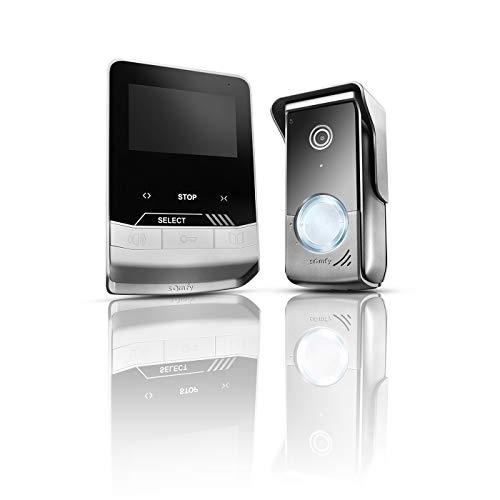 Somfy 1870535 – Visiophone V100+   Moniteur Écran 4,3 Pouces   Vision Nocturne   pour Contrôler jusqu'à 5 Équipements RTS