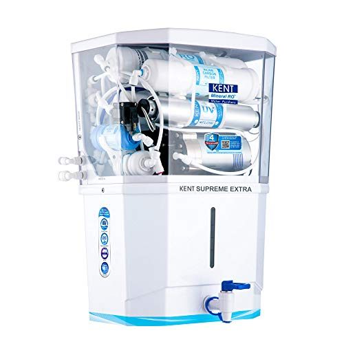 KENT Supreme Extra 2020 (11113), Zero Water Wastage, Wall Mountable, RO + UV + UF + Alkaline + TDS...