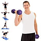 Dumbbell Set, TopMade 10lbs A Pair Neoprene Coated Iron Dumbbells Hand Weights Set Barbell Lifting Exercise Fitness Hex Dumb Bell Free Weight Dumb bell for Women Men Home Gym Workout Strength Training