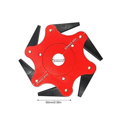 LHSUNTA Trimmer Head Cutter 6 Steel Blades Razors 65Mn Trimmer Head Cutter, Universale 6-Lama in...