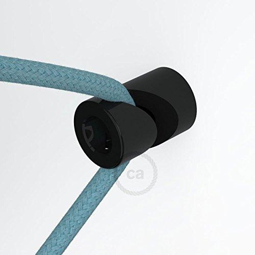 """Creative-Cables DCG01NER Kabelhalter,\""""V\""""-Haken für Decke oder Wand, universell für Elektrokabel, Textilkabel, Schwarz"""