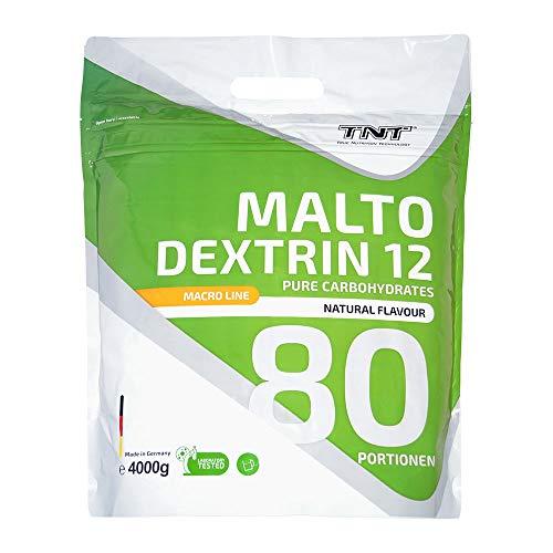 TNT – 100% 4 kg Maltodextrin 12 – Kohlenhydrate Pulver für Sport, Fitness & Bodybuilding
