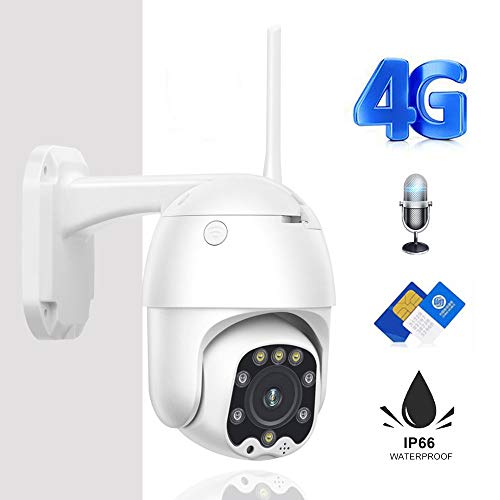 Telecamera Cctv 3g 4g Sim Card Wireless Wifi Ptz Ip Camera 2mp Hd Sicurezza Sorveglianza Esterna Audio Bidirezionale 1080p Versione WiFi 1080P
