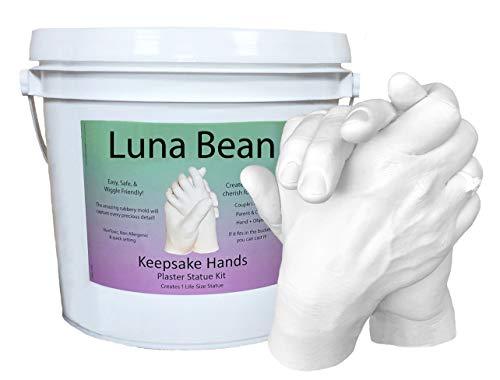 Luna Bean Keepsake Hands Casting Kit | DIY Plaster Statue...