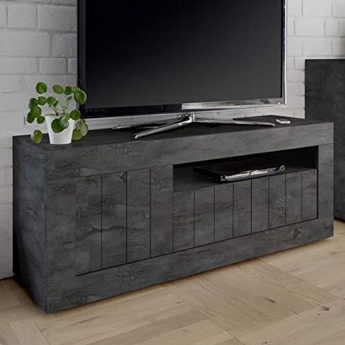 Mobile TV 140 cm grigio antracite moderno, 3 ante Urban
