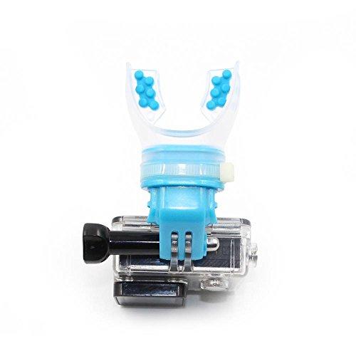 TELESIN Pattinaggio a pattinaggio a sparo Shoot Dummy Bite Porta bocchino Adaptateur de bouche per GoPro Hero 5/4/3 + / 3/2 Caméra, Cam SJ, Xiaomi Yi, Blu