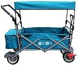 LJTZ Carro de Compras Plegable portátil, Carro Plegable con toldo Carrito de la Utilidad al Aire Libre Plegable con la Barra de Push telescópica para Equipaje/Personal/de Viaje/Auto/móvil. 1203