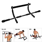 Synteam Pull-Up Bar Doorway Trainer Home Gym Exercise Equipment Chin-Up Bars for Strength Training