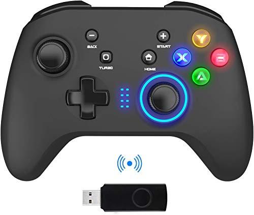 BIMONK Wireless Controller für PC PS3, 2.4GHz PC Gaming Gamepad Joystick für PC Windows 7/8/10, PS3, Switch, TV Box / Laptop / Android