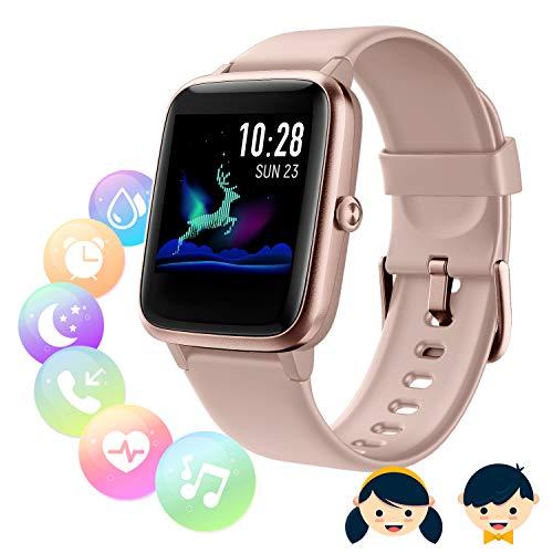 Montre Connectée Femmes Homme, Montre connectée Enfant,Smartwatch Tactile...