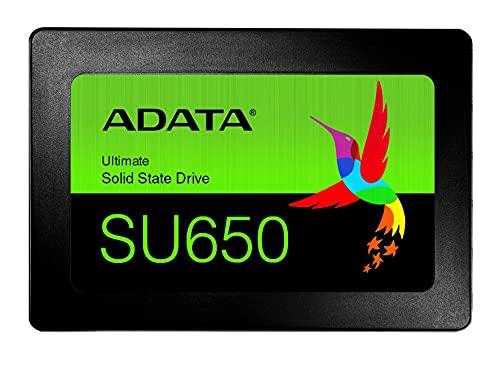 ADATA Ultimate SU650 Interne Solid State Drive 480 GB 3D-NAND SSD-Festplatte, schwarz