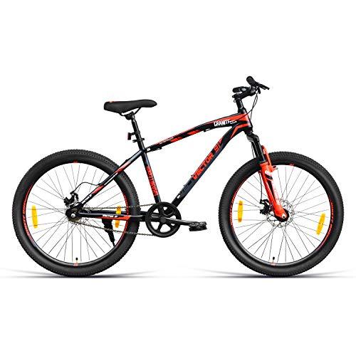 VECTOR 91 Granite-X40 26T Single Speed Hybrid Bike ( Black & Red , Ideal For: 12+ Years , Brake: Disc )