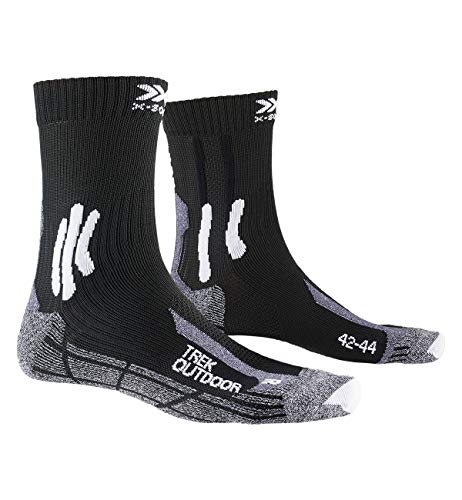 X-Socks Trek Outdoor Socks, Unisex Adulto, Opal Black/Dolomite Grey Melange, 42-44