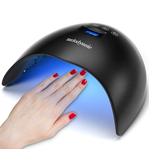 MelodySusie 48W UV LED Nail Lamp Professional Nail Dryer with 4 Timer Setting and Automatic Sensor for Gel Nails Polish, Built-in LG Chips, UV Light for Nails, Suitable Salon and Home Use