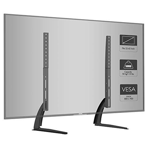 BONTEC Supporto Piedistallo TV per schermi LED LCD Plasma da 22-65 pollici, Supporto da Tavolo per...