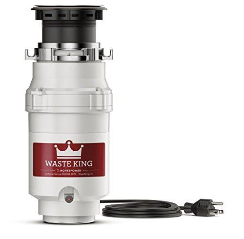 Waste King L-111 Garbage Disposal with Power Cord, 1/3 HP