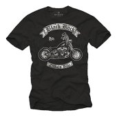 Camisetas de Motos para Hombre - Black Rock - Negro XL