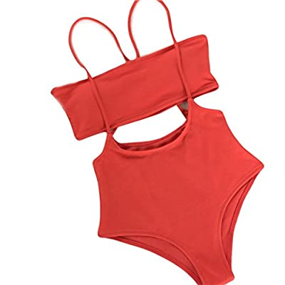 Smooth fabric bikini swimsuit sets are very stretchy, comfortable and durable, making you look amazing during beach vacation, pool swimming, Hawaii, Honeymoon and Hawaii, etc. Please pay attention to the size chart in the picture is the actual length...