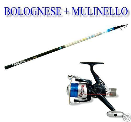 linea-effe Kit Bolognese da 4 MT Delta Azione 5-20 GR. + N 1 Mulinello Shiver 30 + Filo