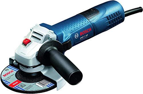 Bosch Professional Smerigliatrice Angolare GWS 7-125, Ø Disco: 125 mm, Confezione in Cartone, 720 W, 230 V, Blu