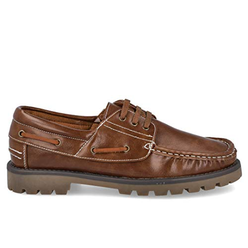 L&R SHOES 886 Zapatos Nauticos Hombre - Sintético para: Hombre Color: Camel Talla: 42